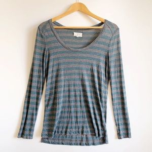 Lou & Grey Striped Long Sleeve Tee Size Small
